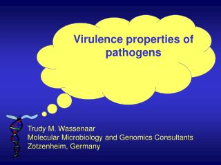 Virulence properties of pathogens
