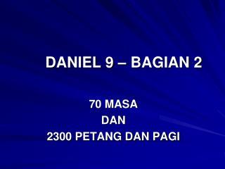 DANIEL 9 – BAGIAN 2