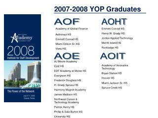 2007-2008 YOP Graduates