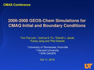 2006-2008 GEOS-Chem Simulations for CMAQ Initial and Boundary Conditions