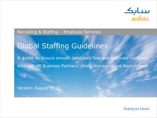 Recruiting & Staffing – Employee Services