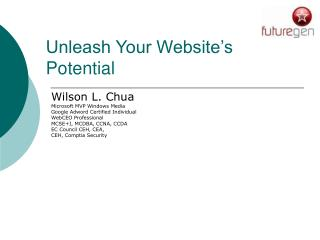 Unleash Your Website�s Potential
