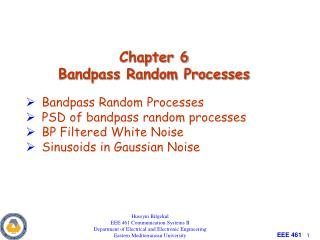 Chapter 6 Bandpass Random Processes