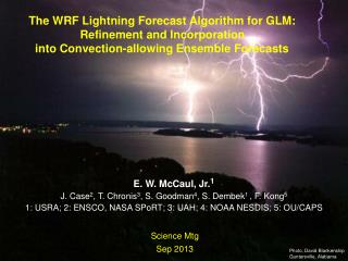 The WRF Lightning Forecast Algorithm for GLM: