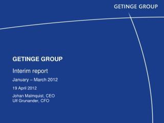 GE T INGE GROUP