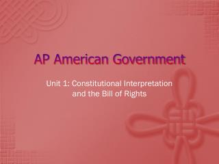 AP American Government