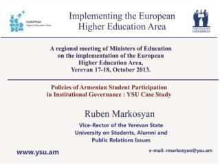 History and Basis  of  formation of  Student  Organizations in  Armenia