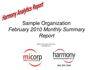 Sample Organization February 2010 Monthly Summary Report