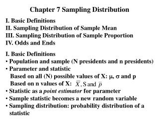 Chapter 7 Sampling Distribution