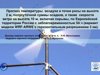Доклад главного научного сотрудника, д. ф-м. н.   Н.Ф. Вельтищева.