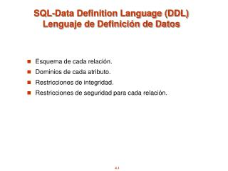 SQL-Data Definition Language (DDL) Lenguaje de Definición de Datos