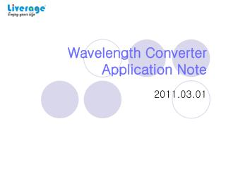 Wavelength Converter Application Note