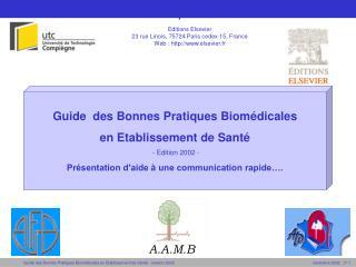 Guide des Bonnes Pratiques Biomédicales : titre