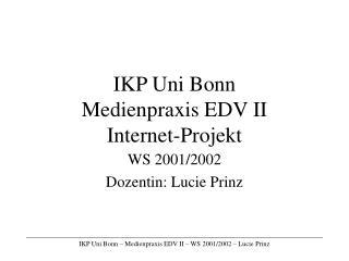 IKP Uni Bonn Medienpraxis EDV II  Internet-Projekt
