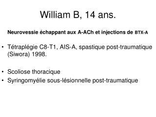 William B, 14 ans.