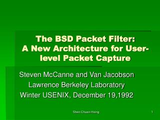 The BSD Packet Filter:  A New Architecture for User-level Packet Capture