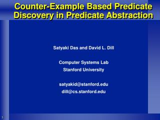Counter-Example Based Predicate Discovery in Predicate Abstraction