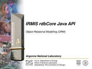 IRMIS rdbCore Java API