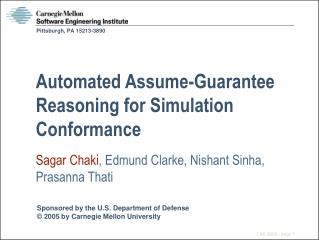 Automated Assume-Guarantee Reasoning for Simulation Conformance