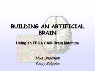 BUILDING AN ARTIFICIAL BRAIN