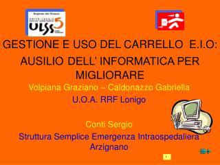 GESTIONE E USO DEL CARRELLO  E.I.O: AUSILIO DELL' INFORMATICA PER MIGLIORARE