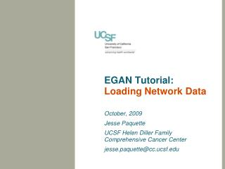 EGAN Tutorial: Loading Network Data