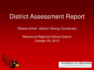 District Assessment Report