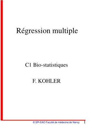 Régression multiple