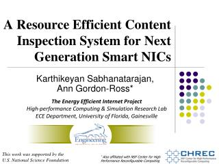 A Resource Efficient Content Inspection System for Next Generation Smart NICs