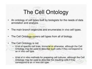The Cell Ontology