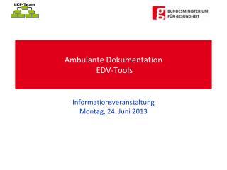 Ambulante Dokumentation  EDV-Tools