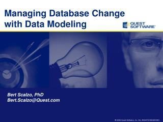 Managing Database Change with Data Modeling