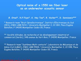 Optical noise of a 1550 nm fiber laser  as an underwater acoustic sensor