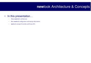 new look Architecture & Concepts