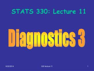 STATS 330: Lecture 11