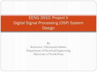 EENG 3910: Project V  Digital Signal Processing (DSP) System Design