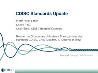 CDISC Standards Update