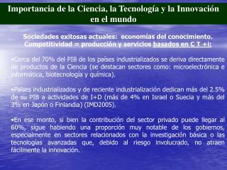 Importancia de la Ciencia, la Tecnología y la Innovación en el mundo