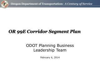 OR 99E Corridor Segment Plan