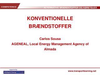 KONVENTIONELLE BRÆNDSTOFFER Carlos Sousa AGENEAL, Local Energy Management Agency of Almada