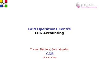 Grid Operations Centre LCG Accounting