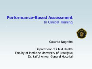 Performance-Based Assessment In Clinical Training