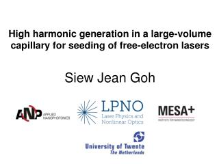 High harmonic generation in a large-volume capillary for seeding of free-electron lasers