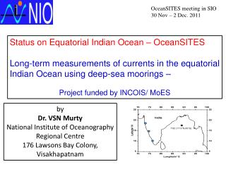 Status on Equatorial Indian Ocean –  OceanSITES