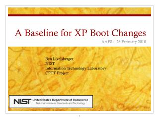 A Baseline for XP Boot Changes