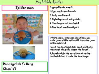 My Edible Spider