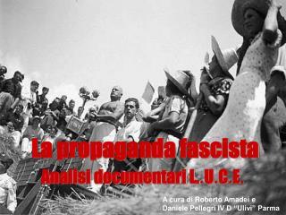 La propaganda fascista