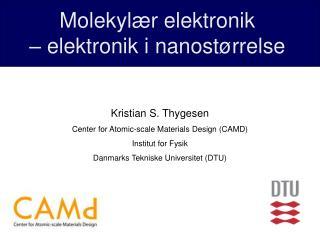 Molekylær elektronik               – elektronik i nanostørrelse