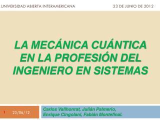Universidad abierta interamericana  23 de junio de 2012