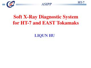 Soft X-Ray Diagnostic System  for HT-7 and EAST Tokamaks